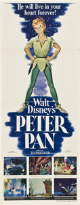 "Movie Posters:Animated, Peter Pan (RKO, 1953). Insert (14"" X 36"").. ..."