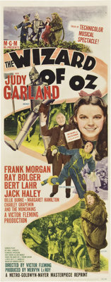 """The Wizard of Oz (MGM, R-1949). Insert (14"""" X 36"""")"""