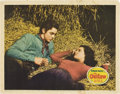 """Movie Posters:Western, The Outlaw (Howard Hughes Productions, 1941). Lobby Card (11"""" X 14"""").. ..."""