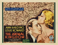 "Movie Posters:Drama, The Animal Kingdom (RKO, 1932). Title Lobby Card (11"" X 14"").. ..."