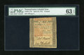 Colonial Notes:Pennsylvania, Pennsylvania April 10, 1775 £5 PMG Choice Uncirculated 63 EPQ....