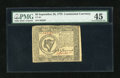 Colonial Notes:Continental Congress Issues, Continental Currency September 26, 1778 $8 PMG Choice ExtremelyFine 45....