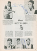 Autographs:Others, 1960 Pittsburgh Pirates Team Signed World Series Program....