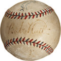 Autographs:Baseballs, Early 1930's Babe Ruth, Lou Gehrig & Ben Chapman Signed Baseball....
