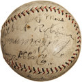 Autographs:Baseballs, 1930 Brooklyn Robins Team Signed Baseball....