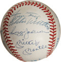 Autographs:Baseballs, 500 Home Run Club Signed Baseball Signed by Eleven....