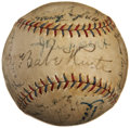 Autographs:Baseballs, 1928 New York Yankees Team Signed Baseball....