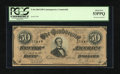 Confederate Notes:1864 Issues, T66 $50 1864. Havana Counterfeit. CT-66/496. ...