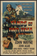 "Movie Posters:War, Sands of Iwo Jima (Republic, R-1954). One Sheet (27"" X 41""). War....."