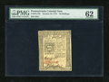 Colonial Notes:Pennsylvania, Pennsylvania October 25, 1775 20s PMG Uncirculated 62....