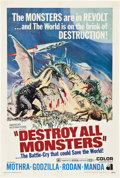 """Movie Posters:Science Fiction, Destroy All Monsters (American International, 1969). One Sheet (27""""X 41"""").. ..."""