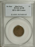 (1858) 1C Small Letters Flying Eagle Cent--85% Off Center--AU58 PCGS