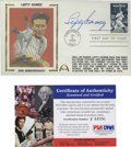 Autographs:Index Cards, Lefty Gomez Signed First Day Cover....