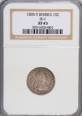Early Dimes, 1805 10C 5 Berries XF45 NGC. JR-1. PCGS Population (1/9).(#4478)...