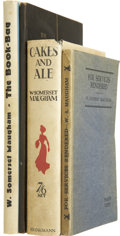 Books:First Editions, W. Somerset Maugham. Four First Editions, Two Signed, including:Cakes and Ale. [and:] The Book-Bag. Signe... (Total:4 Items)