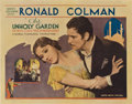 "Movie Posters:Romance, The Unholy Garden (United Artists, 1931). Half Sheet (22"" X 28"")....."