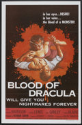 "Movie Posters:Horror, Blood Of Dracula (American International, 1957). One Sheet (27"" X41""). Horror.. ..."