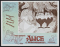 "Movie Posters:Animated, Alice in Wonderland (Buena Vista, R-1974). Australian Lobby CardSet of 8 (11"" X 14""). Animated.. ... (Total: 8 Items)"