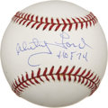 "Autographs:Baseballs, Whitey Ford ""HOF 74"" Single Signed Baseball. ..."