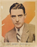 """Movie Posters:Miscellaneous, John Gilbert (MGM, 1920s). Personality Poster (21.75"""" X 28"""").. ..."""