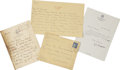 Miscellaneous:Ephemera, W. Somerset Maugham. Two Autograph Letters Signed and One TypedLetter Signed, including a very warm response to a fan lette...(Total: 3 Items)