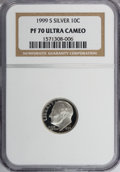Proof Roosevelt Dimes: , 1999-S 10C Silver PR70 Ultra Cameo NGC. NGC Census: (214/0). PCGSPopulation (28/0). Numismedia Wsl. Price for NGC/PCGS co...