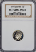 Proof Roosevelt Dimes: , 1993-S 10C Silver PR69 Ultra Cameo NGC. PCGS Population (1845/60).Numismedia Wsl. Price for NGC/PCGS c...