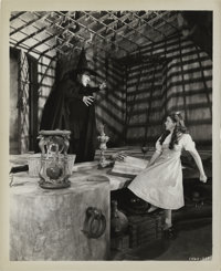 "Judy Garland and Margaret Hamilton in ""The Wizard of Oz"" (MGM, 1939). Still (8"" X 10"")"