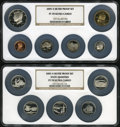 (2)2005-S $1 Silver Proof Set PR70 Ultra Cameo NGC. The Set includes: Lincoln Cent, Western Water Nickel, Bison Nickel...