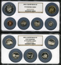 Proof Sets, (2)2005-S $1 Silver Proof Set PR70 Ultra Cameo NGC. The Set includes: Lincoln Cent, Western Water Nickel, Bison Nickel, Roo... (Total: 11 coins)