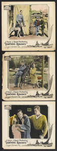 "Movie Posters:Adventure, Lightning Romance (Rayart Pictures, 1924). Lobby Cards (3) (11"" X14""). Adventure.. ... (Total: 3 Items)"