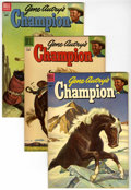 Golden Age (1938-1955):Western, Gene Autry's Champion File Copies Group (Dell, 1954-55) Condition: Average VF/NM.... (Total: 5 Comic Books)