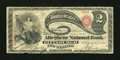 National Bank Notes:Pennsylvania, Pittsburgh, PA - $2 Original Fr. 387 The Allegheny NB Ch. # 722....