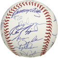 Autographs:Baseballs, 2002 Anaheim Angels Team Signed Baseball. ...