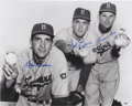 Autographs:Photos, Brooklyn Dodgers Pitchers Multi Signed Oversized Photo. ...