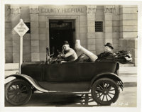 """Laurel and Hardy in """"County Hospital"""" (MGM, 1932). Still (8"""" X 10"""")"""