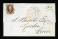 Stamps, #1, 1847, 5c Red Brown. (Used)....