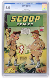 Scoop Comics #1 (Chesler, 1941) CGC FN 6.0 Off-white pages