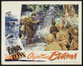 """Movie Posters:War, Objective Burma Lot (Warner Brothers, 1945). Lobby Cards (2) (11"""" X14""""). War.. ... (Total: 2 Items)"""