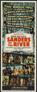 "Movie Posters:Adventure, Sanders of the River (Film Classics Inc., R-1947). Insert (14"" X36""). Adventure.. ..."