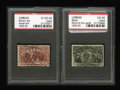 Stamps, #242//245, 1893 Columbian Exposition Issue. (Used).... (Total: 2 Slab)