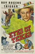 "Movie Posters:Western, Eyes of Texas (Republic, 1948). One Sheet (27"" X 41"").. ..."