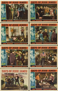 "Movie Posters:Western, Days of Jesse James (Republic, 1939). Lobby Card Set of 8 (11"" X14"").. ... (Total: 8 Items)"