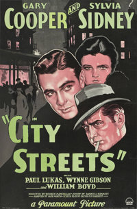 "City Streets (Paramount, 1931). One Sheet (27"" X 41"")"