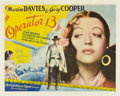 "Movie Posters:Romance, Operator 13 (MGM, 1934). Half Sheet (22"" X 28"").. ..."