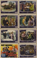 """Movie Posters:Western, Wall Street Cowboy (Republic, 1939). Lobby Card Set of 8 (11"""" X 14"""").. ... (Total: 8 Items)"""