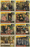 "Movie Posters:Western, Southward, Ho! (Republic, 1939). Lobby Card Set of 8 (11"" X 14"")..... (Total: 8 Items)"