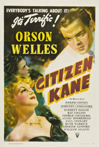 "Citizen Kane (RKO, 1941). One Sheet (27"" X 41"") Style B"