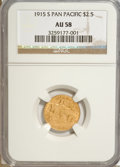 Commemorative Gold, 1915-S $2 1/2 Panama-Pacific Quarter Eagle AU58 NGC....