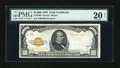 Small Size:Gold Certificates, Fr. 2408 $1000 1928 Gold Certificate. PMG Very Fine 20 Net.. ...